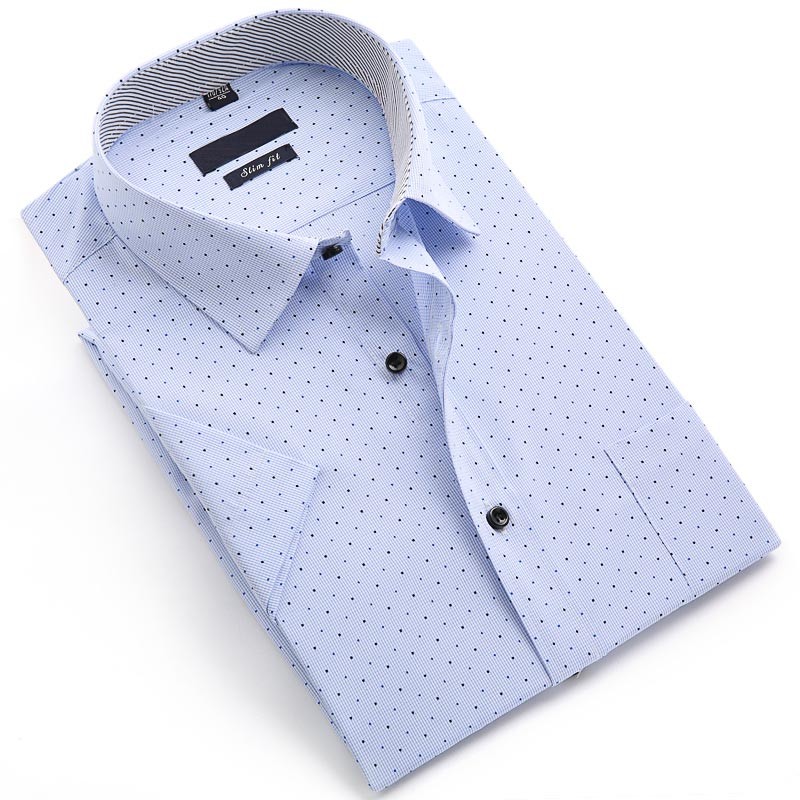 Men Short Sleeve Business Shirt