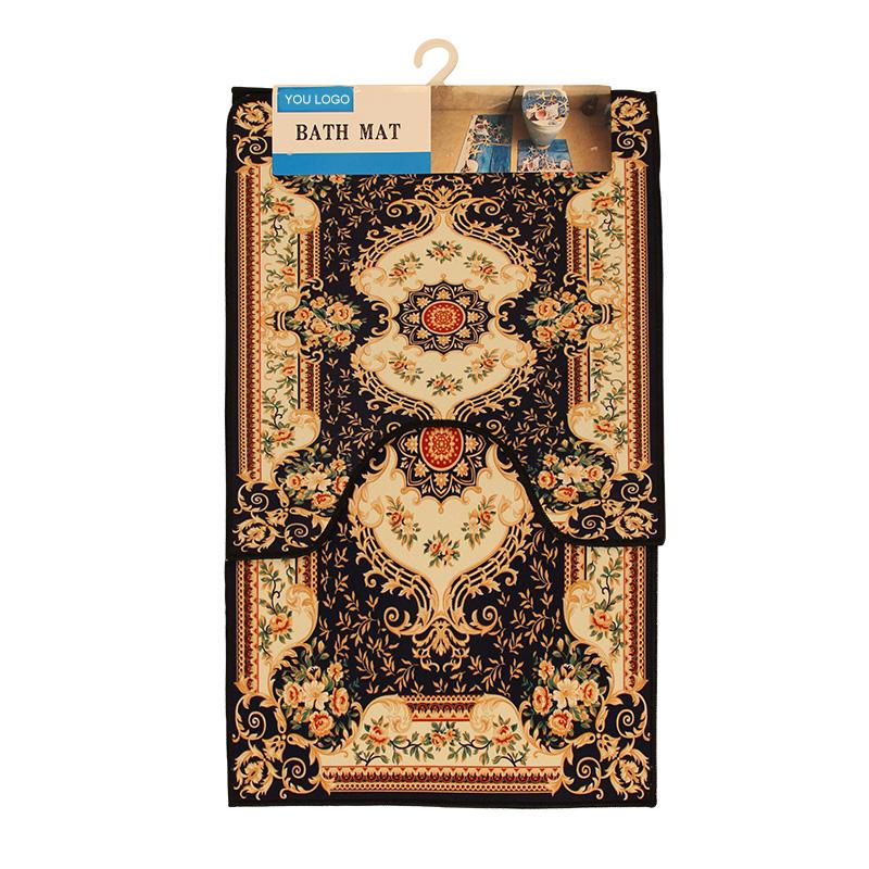 Printed Non Slip Flannel Floor Mats