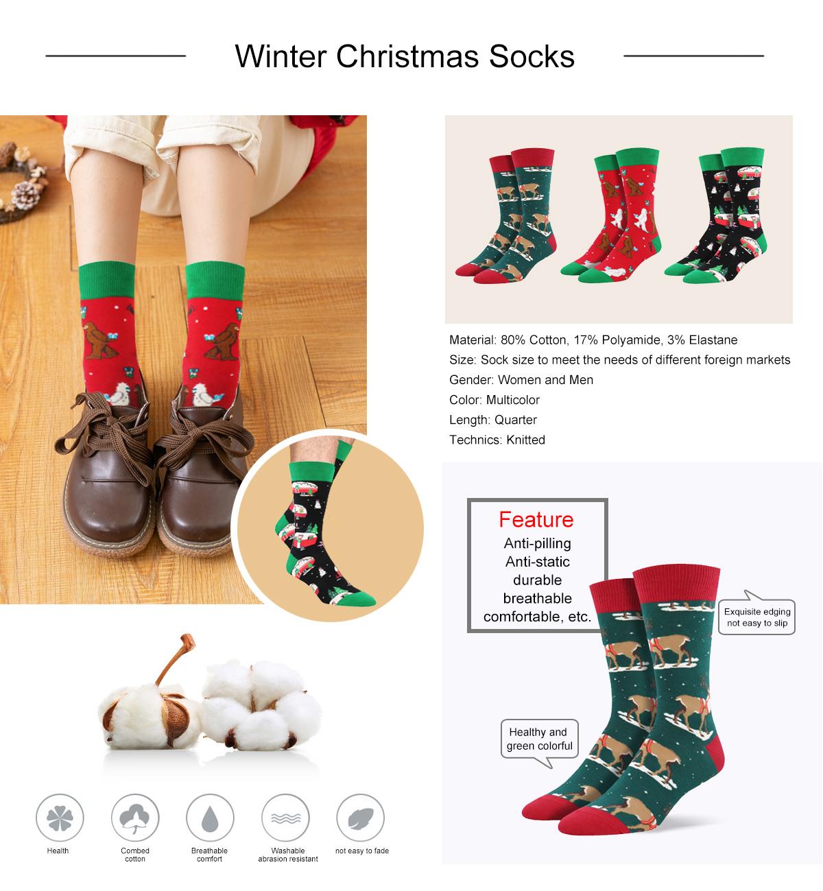 Winter Christmas Socks