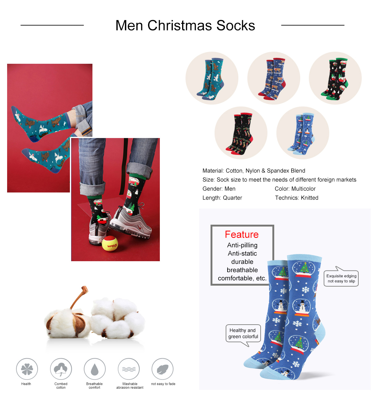 Men Christmas Socks
