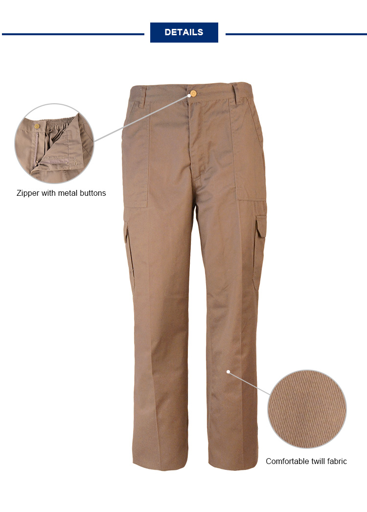 Cotton Twill Cargo Pants Men