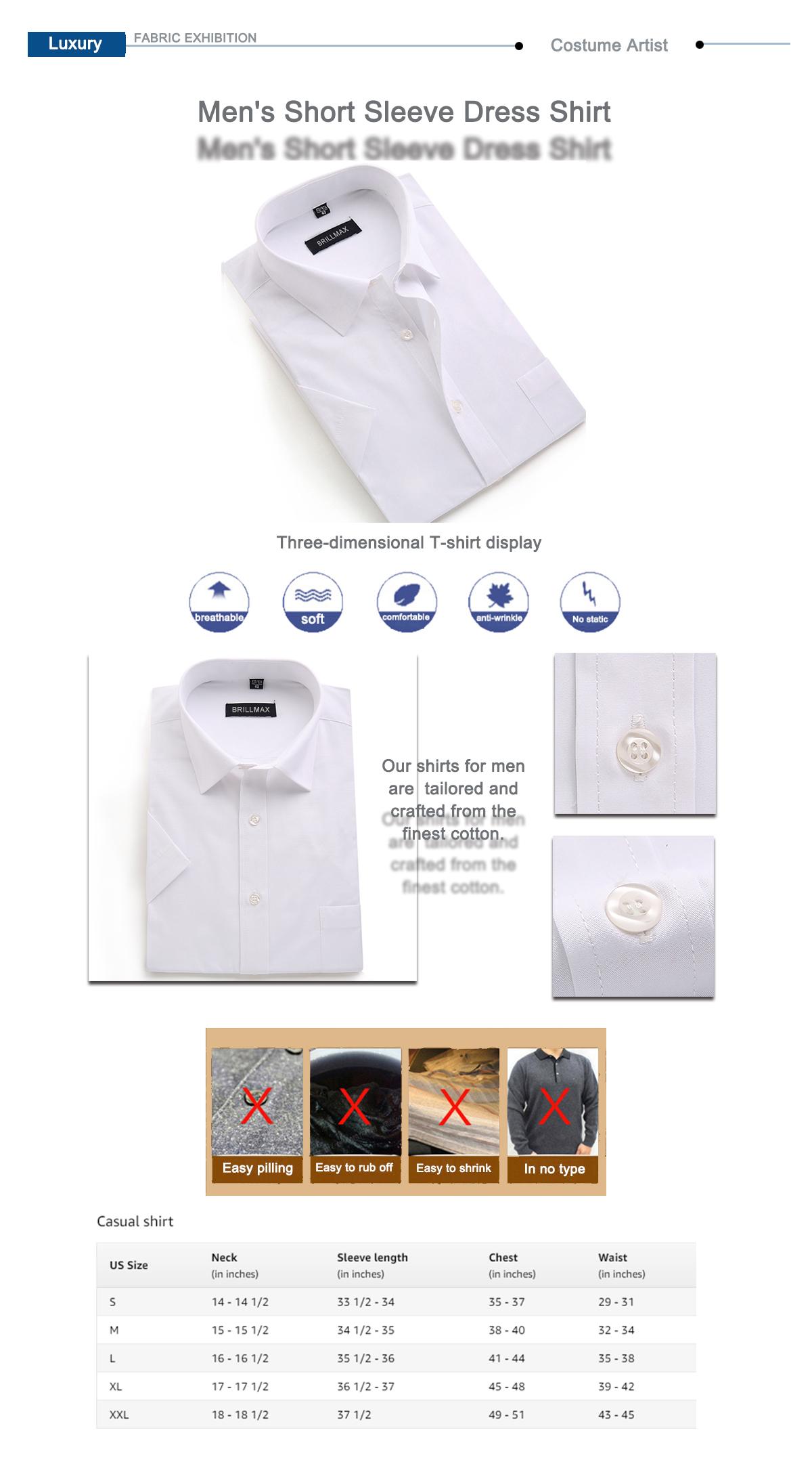 Solid Color Formal Men Shirt