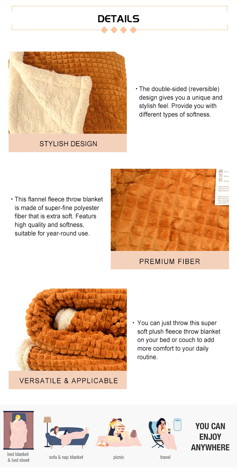 Thick Sherpa Fleece Blanket