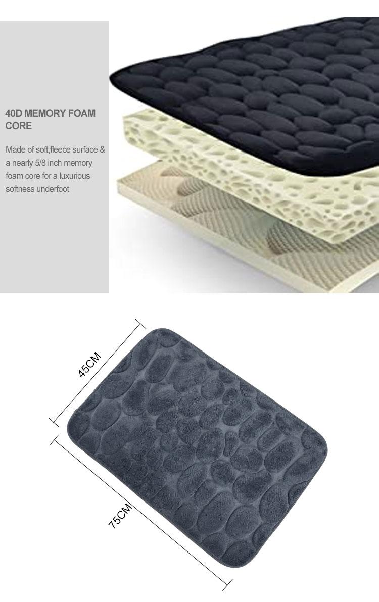 Embossed Flannel Modern Rug Mat