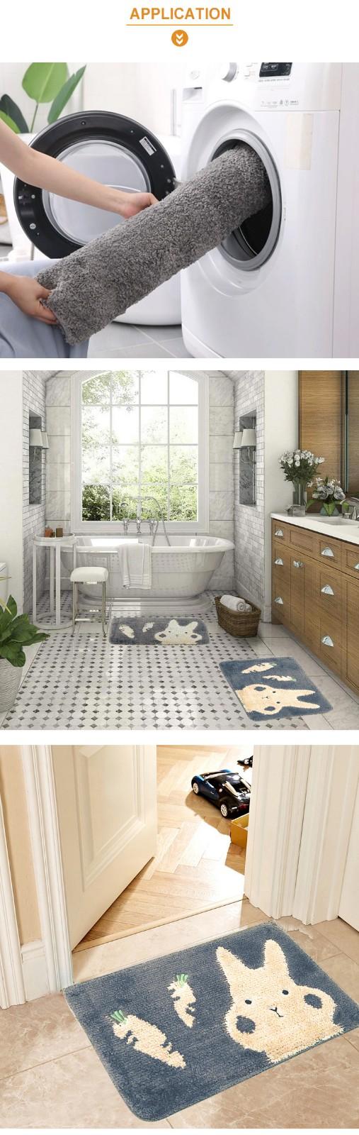 Absorbent Non-slip Microfiber Bathroom Kitchen Door Mat
