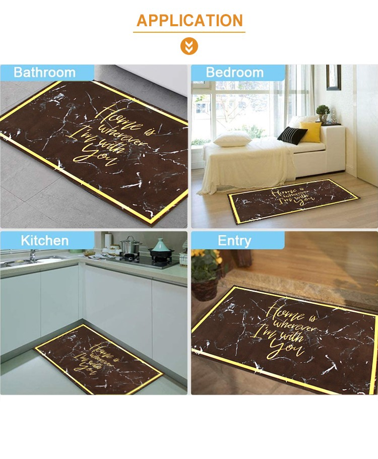 Anti-slip carpet Flannel Mats