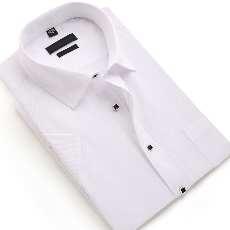 Solid Color Formal Men Shirt