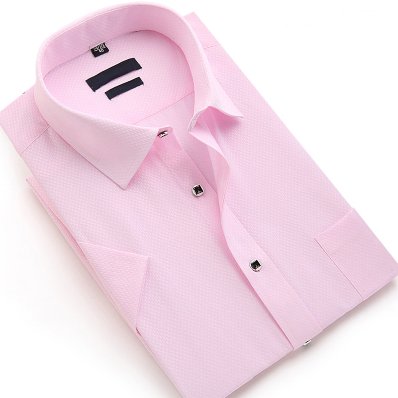 Summer Men Solid Color Shirt