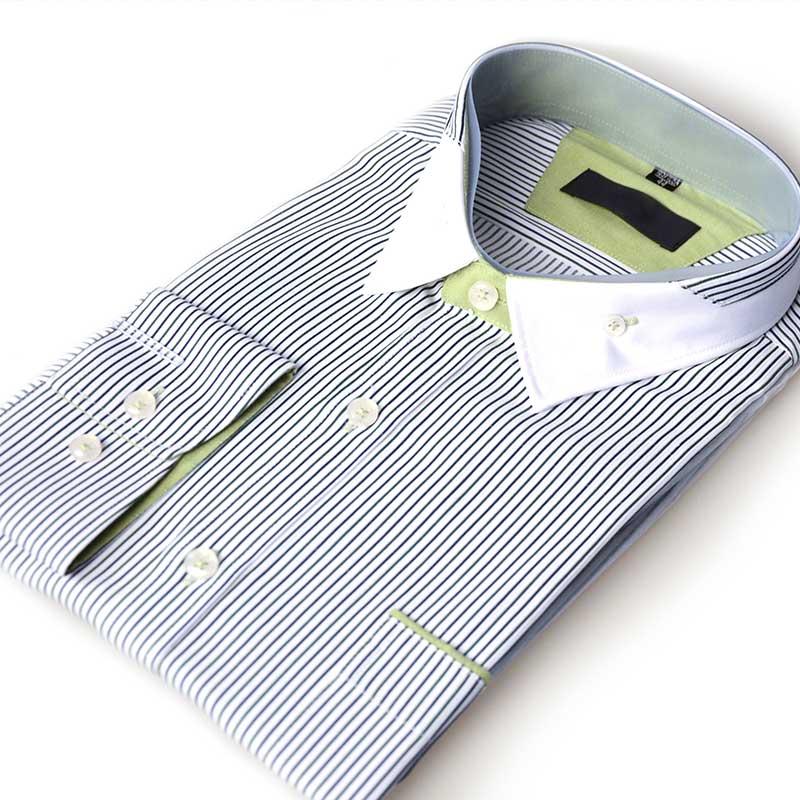 Men Long Sleeve Striped Shirt