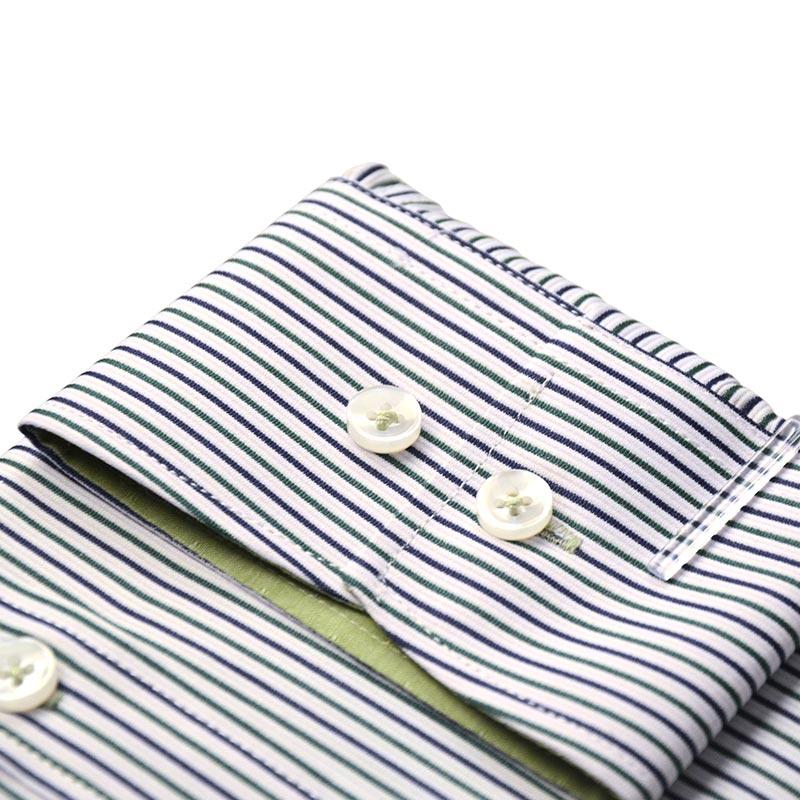 BRILLMAS Men Long Sleeve Striped Shirt