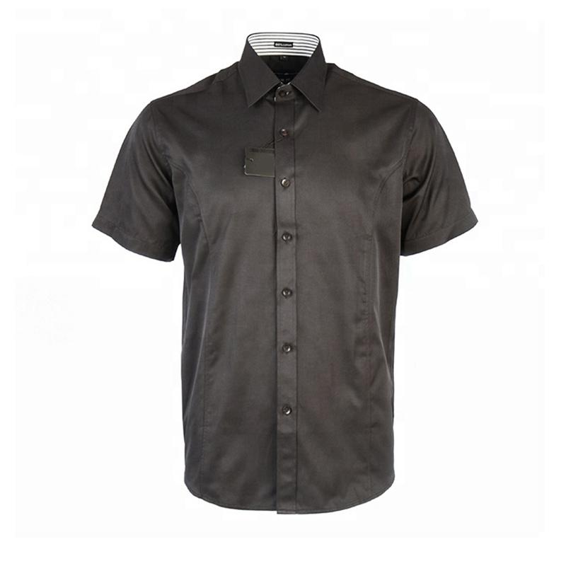 Men Tailored Fit Short Sleeve Shirt