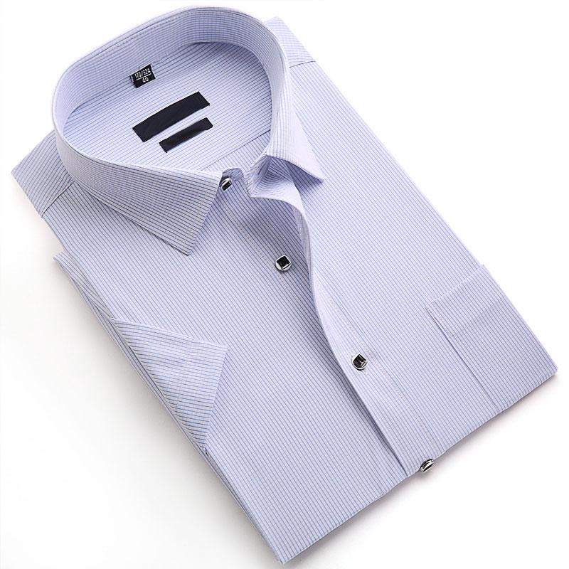 Men Short Sleeve Plaid Shirt