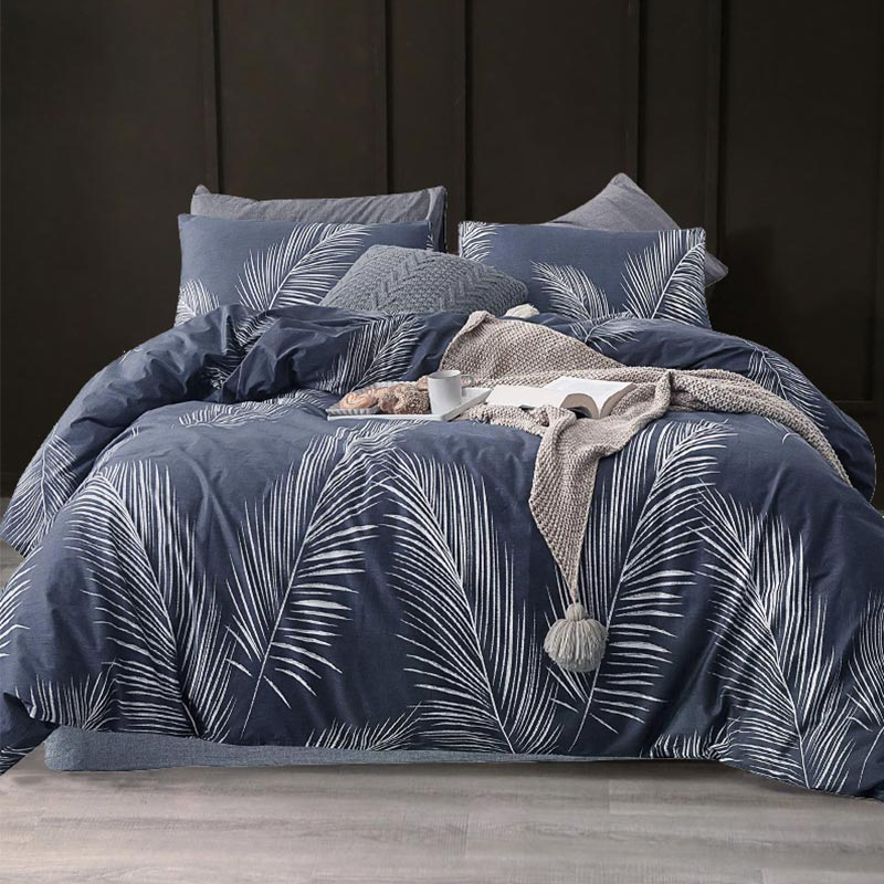 Leaf Print Bedding Set