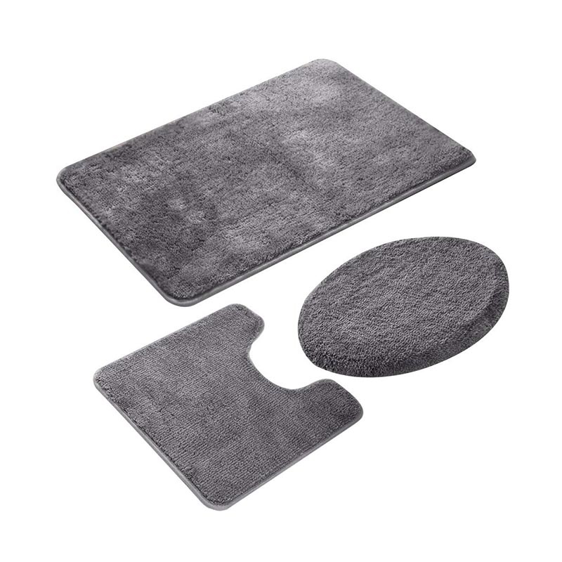 Bathroom Rug Set 3 Pieces