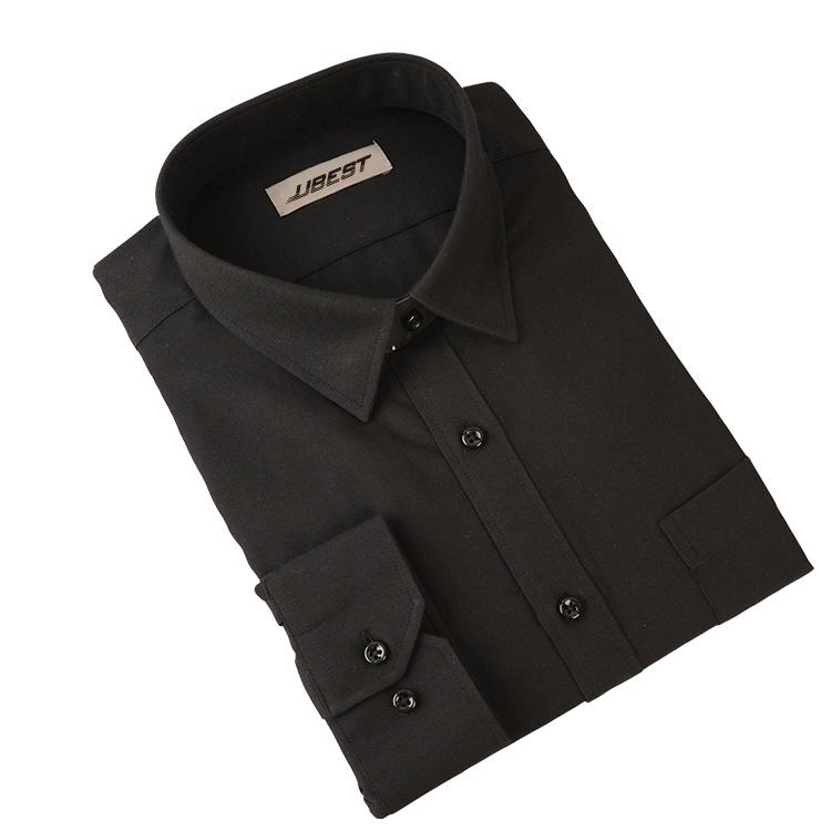UBEST Men's Black Button Down Shirt