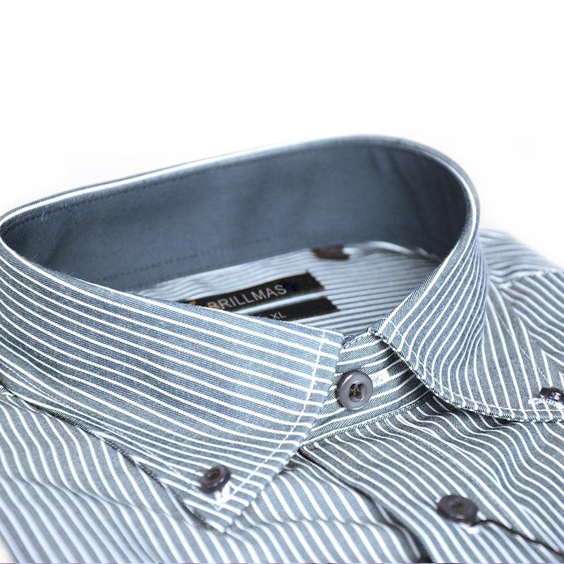 BRILLMAS Men Striped Plain Shirt