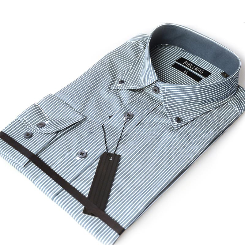 BRILLMAS Men Striped Plain Shirt