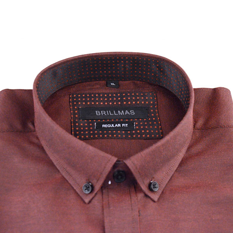 BRILLMAS Men Long Sleeve Oxford Shirt
