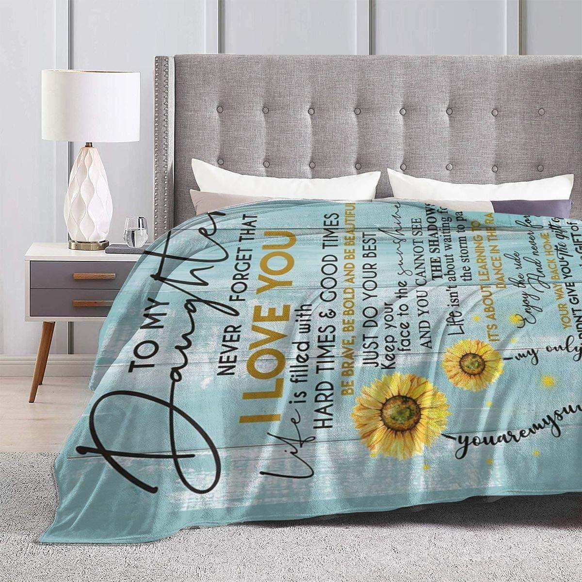 Love Letter Flower Print Blanket