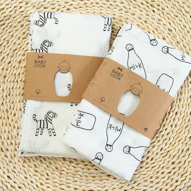 Gauze Baby Muslin Swaddle Blankets