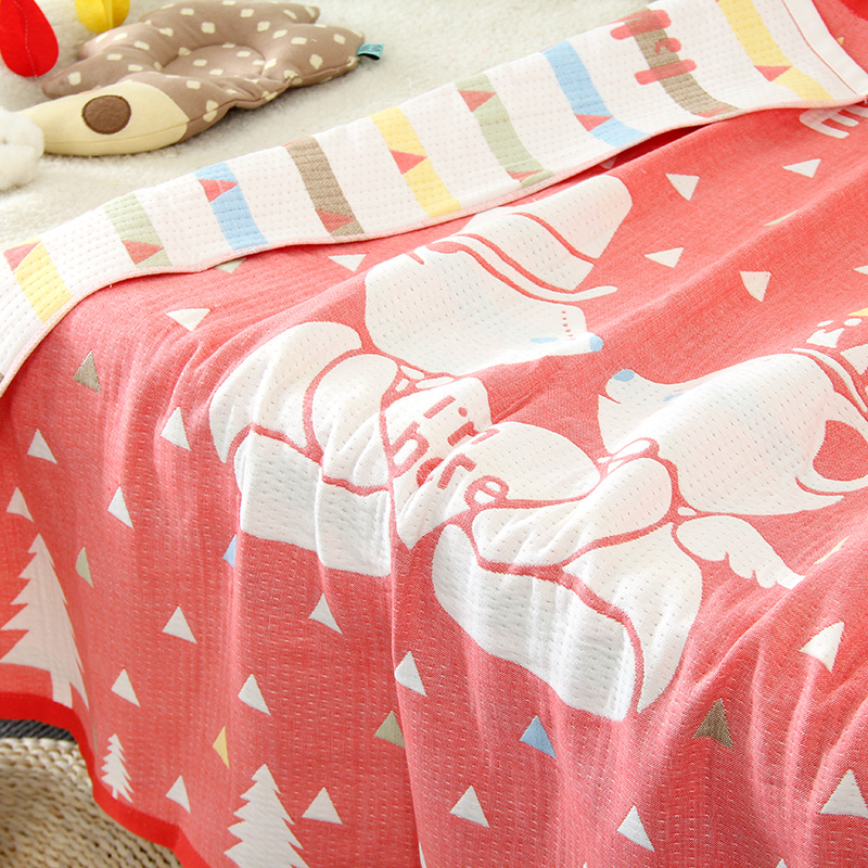 Muslin Quilted Baby Printing Blanket